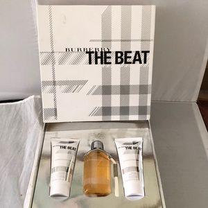 Burberry Beat perfume gift set 2.5 oz gel & lotion